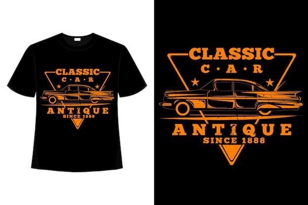 T-shirt classica auto stile vintage antico