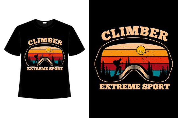 T-shirt climber pino sport estremo retrò