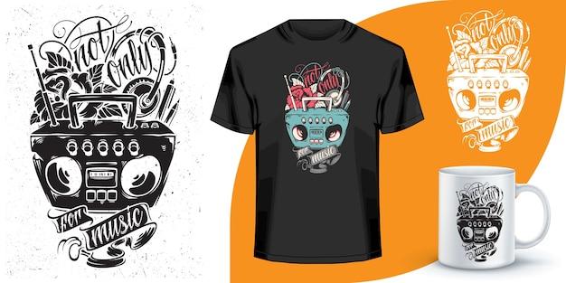 T-shirt e design tazza da caffè