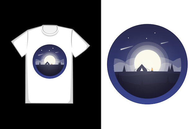 T-shirt design luna piena