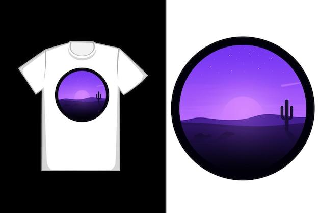 Design della maglietta con una natura meravigliosa