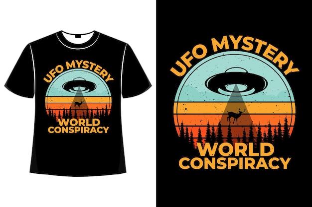 T-shirt mistero cospirazione pino cervo retrò
