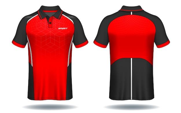 T-shirt polo design, modello in jersey sportivo.