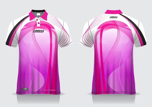 T-shirt polo design sportivo, mockup in jersey da badminton per modello uniforme
