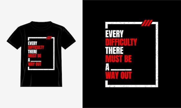 Tipografia di disegno di citazione della maglietta