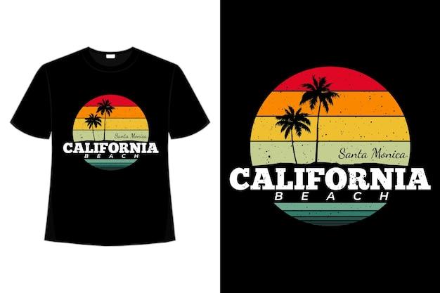 T-shirt retrò california beach santa monica