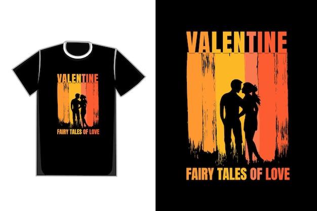 T-shirt coppia romantica san valentino fiabe d'amore