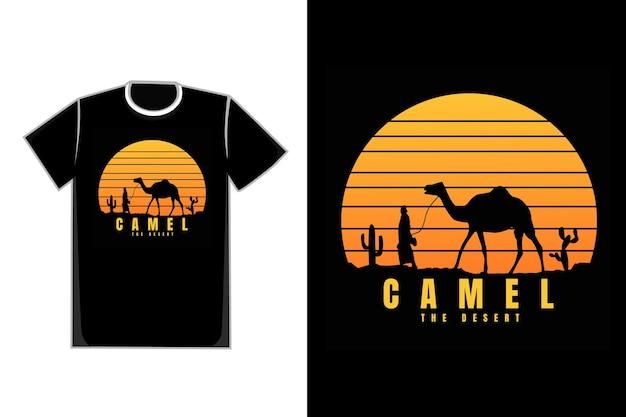 T-shirt silhouette cammello la natura da dessert
