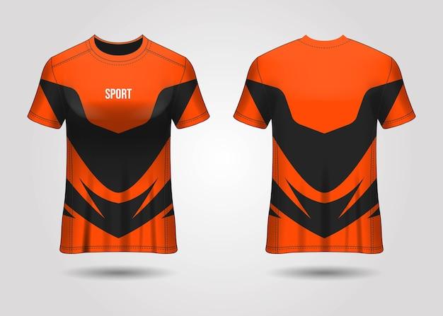 Modello di t-shirt sport jersey