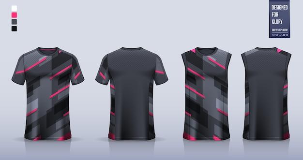 T-shirt, modello di maglietta sportiva per maglia da calcio, kit da calcio. canotta da basket o canotta da running.
