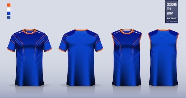 T-shirt design modello di camicia sportiva.