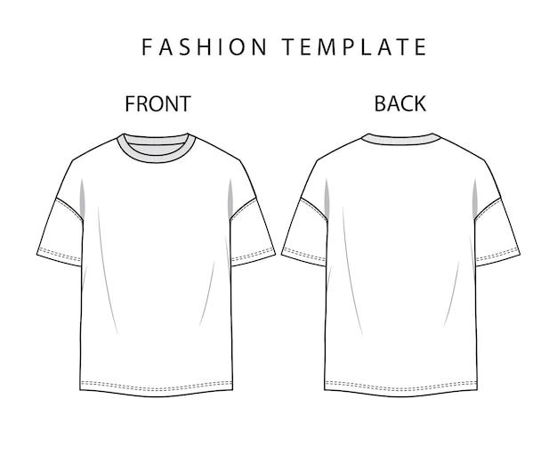 Disegno tecnico della maglietta - vettore di moda