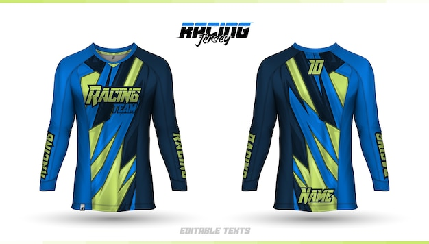 Modello di t-shirt, maglia da corsa, maglia da calcio