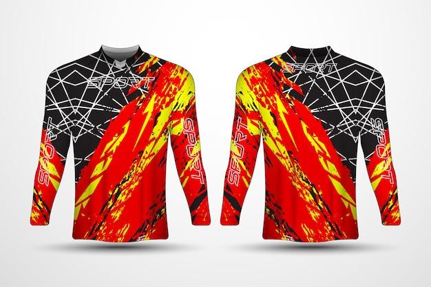 Modello di t-shirt, maglia sportiva da corsa