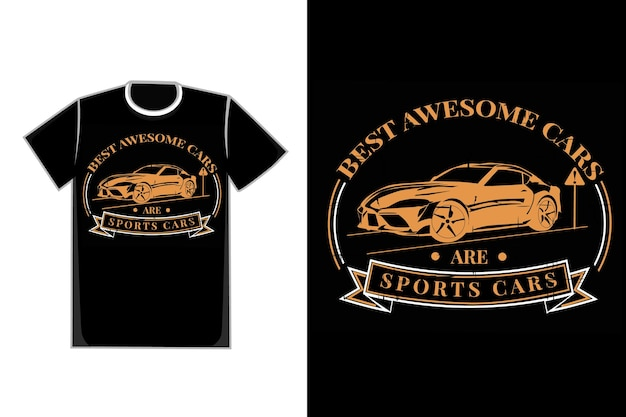 T-shirt tipografia auto sport stile vintage