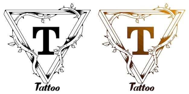 T tatuaggio design