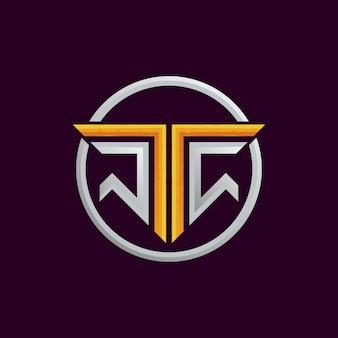 Gioco di francobolli scudo logo squadra t.