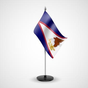 Bandiera da tavolo delle samoa americane