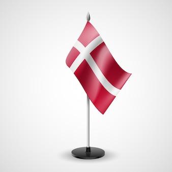 Bandiera da tavolo della danimarca