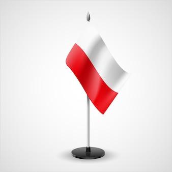 Bandiera da tavolo della polonia