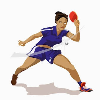 Giocatore femminile di ping-pong