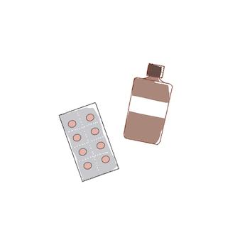 Supplemento di tipo tablet e tipo liquido.