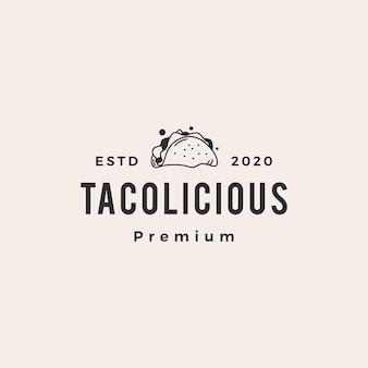 Logo vintage taco hipster