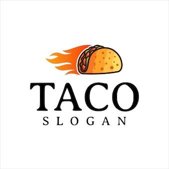 Taco logo design vector fast food ristorante e cafe symbol
