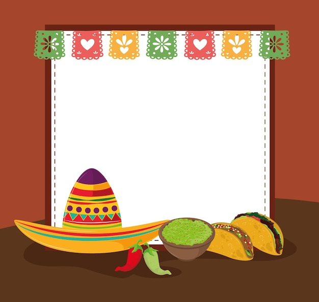Tacos guacamole e cappello