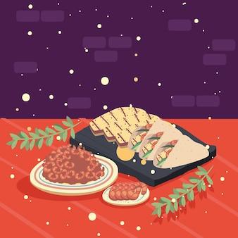 Tacos e gamberi