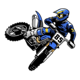 Motocross che frusta la coda