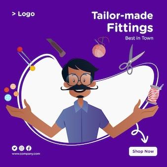 Allestimenti su misura banner design con tailor is with his tools