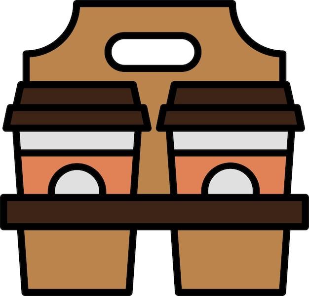 Porta via l'icona del caffè per l'applicazione di stampa del design del poster del documento del sito web
