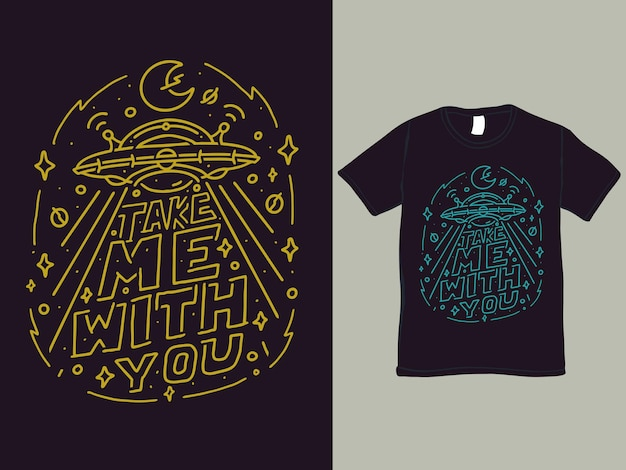 Portami con te maglietta e illustrazione