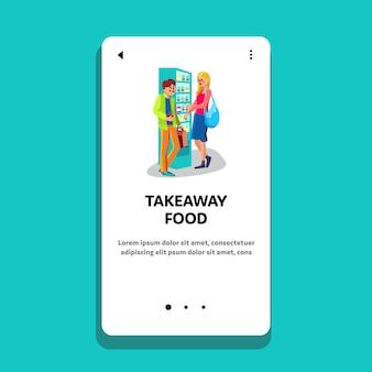 Distributore automatico di cibo e bevande da asporto