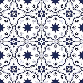 Motivo talavera, azulejos portogallo, piastrella marocchina