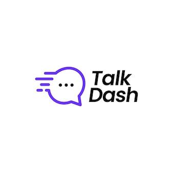 Illustrazione dell'icona di vettore del logo del trattino di conversazione