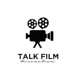 Talk film studio production logo design