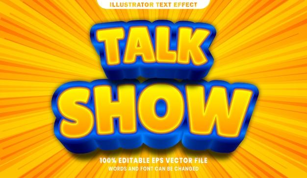 Talk show 3d effetto stile testo modificabile