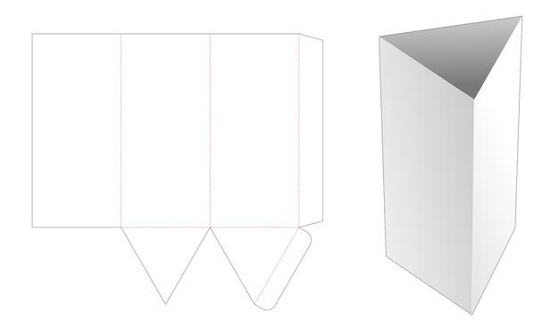 Modello fustellato di ciotola triangolare alta