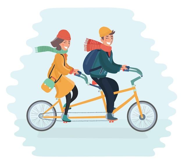 Bicicletta in tandem