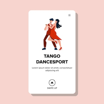 Tango dancesport sport competition event