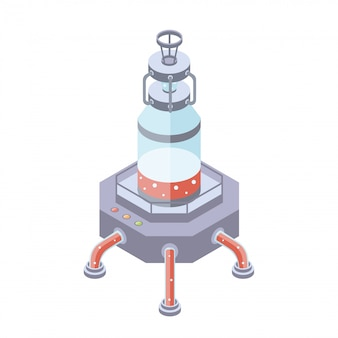 Serbatoi per industria liquida, chimica o alimentare. illustrazione in proiezione isometrica, su sfondo bianco.