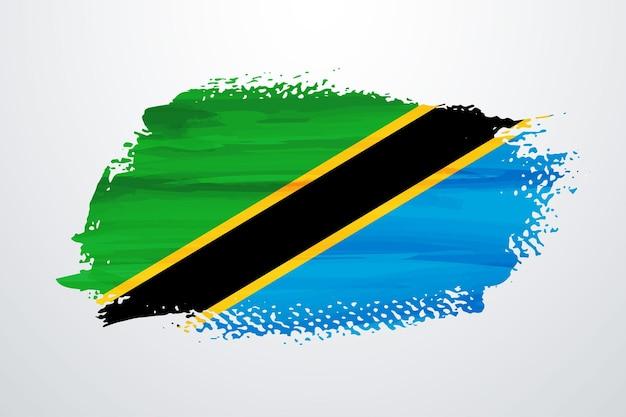 Bandiera della tanzania pennello vernice