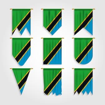 Bandiera della tanzania in diverse forme, bandiera della tanzania in varie forme