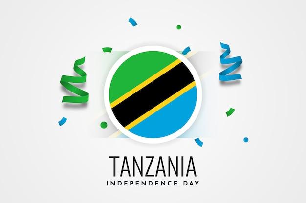 Modello dell'illustrazione di celebrazione del giorno dell'indipendenza della tanzania