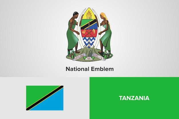 Modello di bandiera nazionale dell'emblema della tanzania