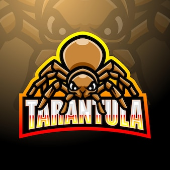 Tarantola mascotte esport logo design