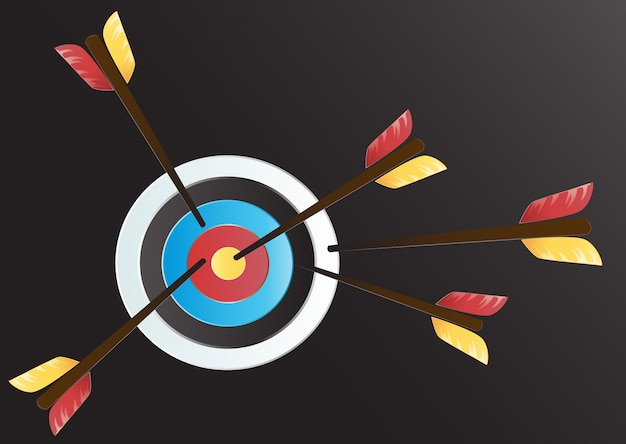 Fondo di vettore di arte di tiro con l'arco dell'obiettivo
