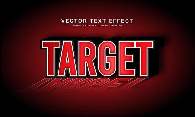 Effetto testo modificabile target con tema colore ombra rossa